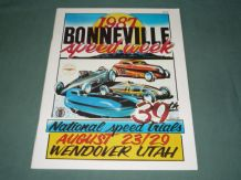 BONNEVILLE 39th ANNUAL SPEEDWEEK 1987 Aug 23-30 Original Program